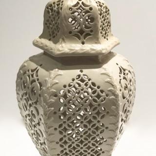 C18th Creamware Vase