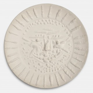 Pablo Picasso   Tormented Face Ceramic Plate. 1956.