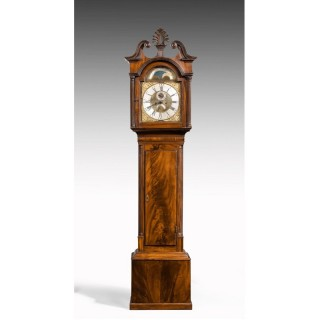 AN IRISH GEORGE III PERIOD MAHOGANY LONGCASE CLOCK