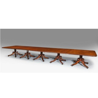 Early 19th Century Five Pillar Dining Table