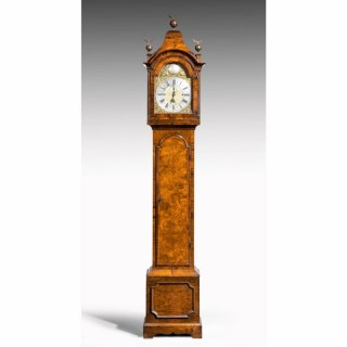 AN UNUSUAL, LATE 19TH CENTURY, LONGCASE CLOCK IN WALNUT ENGRAVED WILLIAM HARRIS