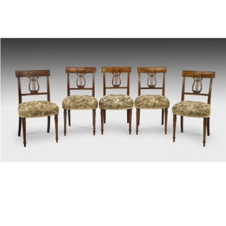 SET OF FOUR GEORGE III PERIOD DINING CHAIRS