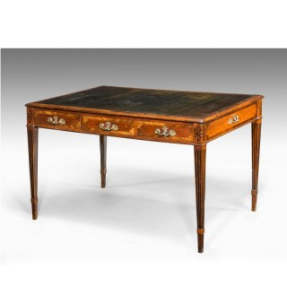 GEORGE III PERIOD MAHOGANY WRITING TABLE