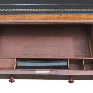 Antique Pollard Oak Pedestal Desk