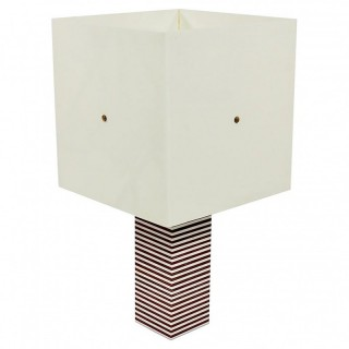 Italian Geometric Layered Acrylic Table Lamp 1970's