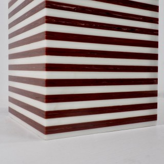 ItalianGeometricLayeredAcrylic TableLamp1970's