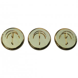 Italian 1970s Oversized Brass Coat Hooks by Cattadori