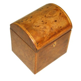 18th Century English Yew Tea Caddy