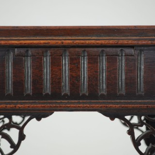 Exceptional 18th century blind fret urn stand