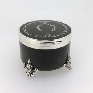 Tortoiseshell and Silver Trinket Box