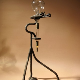 A Rare Art Deco Very Stylish Wrought Iron The Rothschild Wine Dispenser. Circa 1920