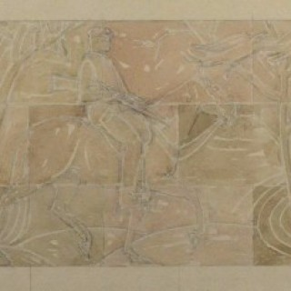 Gilbert Ledward - Design for a Decorative Frieze for Eltham Palace - watercolour