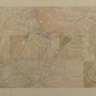 Gilbert Ledward - Design for a Decorative Frieze for Eltham Palace - watercolour