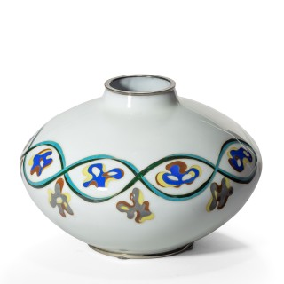 An unusual Showa period cloisonné vase