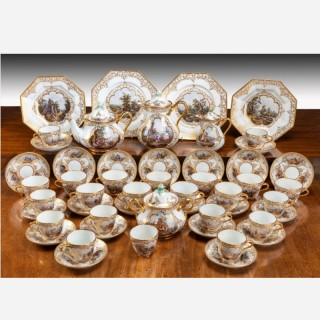 19th Century German KPM Porcelain Coffee and Tea Service