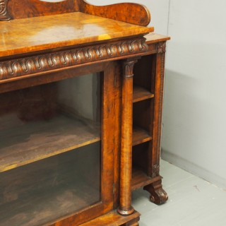 Regency Pollard Oak Bookcase or Cabinet Attributed to William Trotter