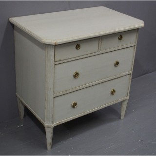 Painted Grey Baltic Pine Chest of Drawers