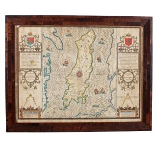 John Speed 'Isle of Man' Map