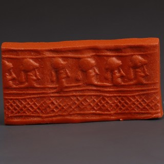 Near Eastern Cylinder Seal with Military Procession
