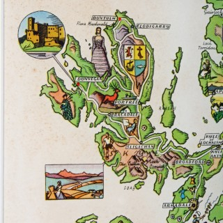 Coloured Pictorial Map of Scotland