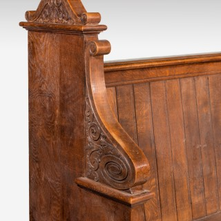 Late 19th Century Gothic Oak Pews