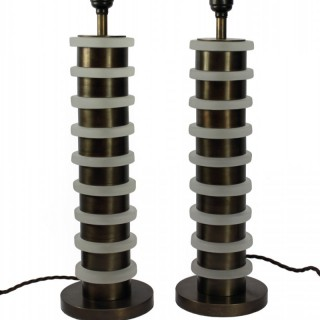 PAIR INDUSTRIAL TABLE LAMPS
