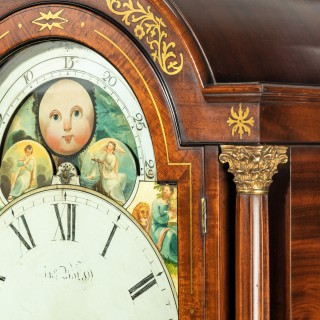 A Large Regency Mahogany Brass Inlaid Bracket Clock by John Foster Circa 1820