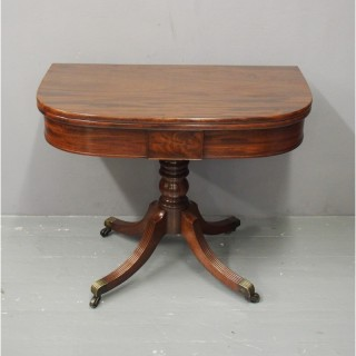 George III Mahogany Fold-over Table