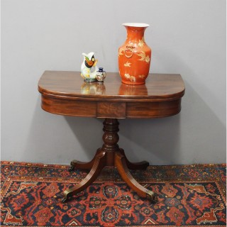 George III Mahogany Fold-over Table