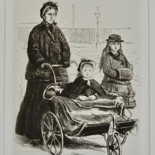 Sir John Everett Millais - Going to the Park - etching