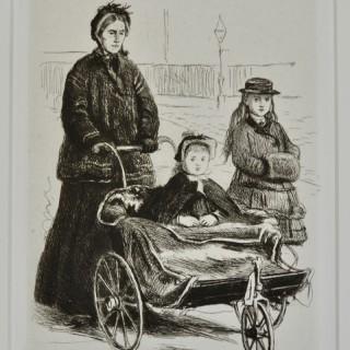 Sir John Everett Millais - Going to the Park - etching