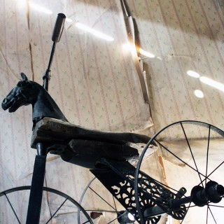 A 19thC French Childs Horse Velocipede Tricycle c.1870