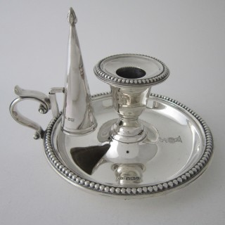 Antique Edwardian Sterling silver chamberstick