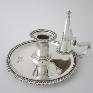 Antique George III Sterling silver chamberstick