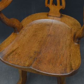 Late Victorian Office Chair in Oak