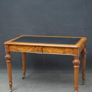 Victorian Burr Walnut Writing Table