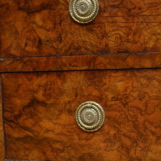 Small Victorian Walnut Chest of Drawers