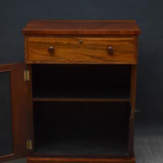 William IV rosewood secretaire cabinet
