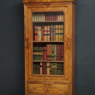 19th Century Continental Figured Walnut Bookcase