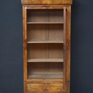 19th Century Continental Figured Walnut Bookcase