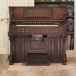 Antique Wooden W. Bell & Co Pump Harmonium
