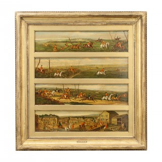 Fox Hunting Oil Paintings Attributed to Henry Alken