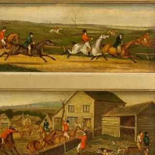 Fox Hunting Oil Paintings Attributed to Henry Alken
