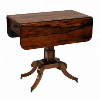 A REGENCY ROSEWOOD PEMBROKE TABLE