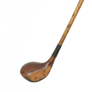 Gibson Hickory Golf Club, George Duncan Autograph Brassie