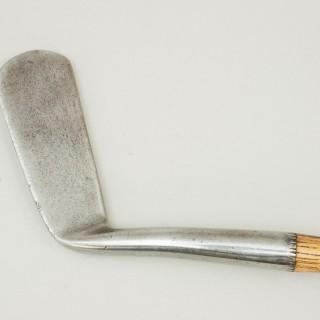 Antique Golf Club, Tom Stewart Smooth Face Wryneck Offset Putter