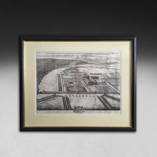 Johannes Kip Engraving – Hampton Court, Herefordshire