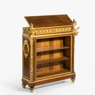 An Open Library Bookcase Lectern of the Napoleon III Period