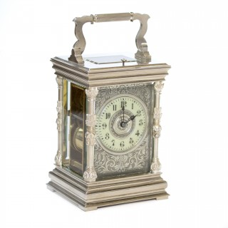 Antique Silver Carriage Clock