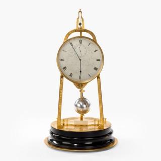 A Rare Tripod Table Clock By Thomas Cole